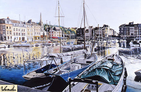 SOLD OUT   |   Afternoon in Honfleur - Oil - 40 M (100 x 65)