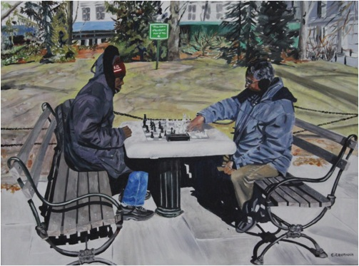 Chess players - Oil - 12F (61X50)