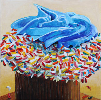 Cup Cake - Oil - 30 x 30 cm