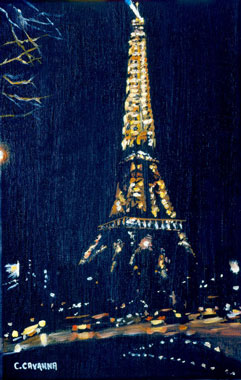 Eiffel Tower By Night - Oil - 6 P (41 x 27)
