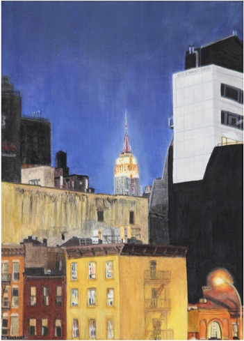 SOLD OUT   |   Empire State building by night - Oil - 8P (46X33)