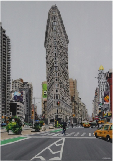 Flat Iron in a grey morning - Oil - 15M (46X65)