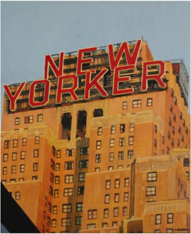 New Yorker building - Oil - 12F (61X50)