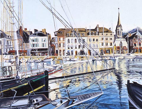SOLD OUT   |   On The Wharf in Honfleur - Oil - 15 P (65 x 50)