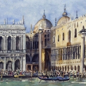 Piazzetta : View from The Big Canal In Venice