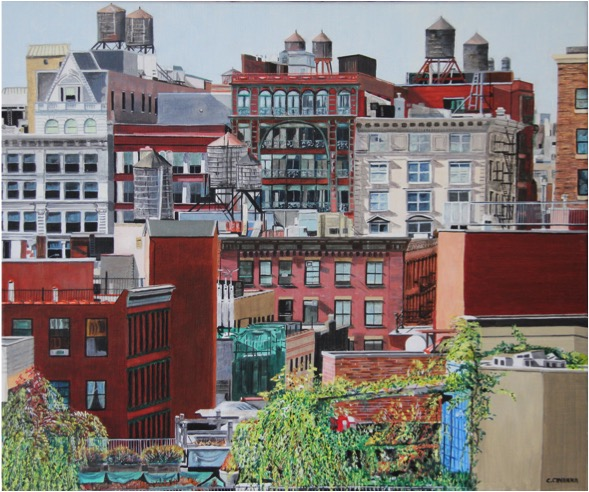 SOLD OUT   |   Rooftop - Oil - 10F (46X55)