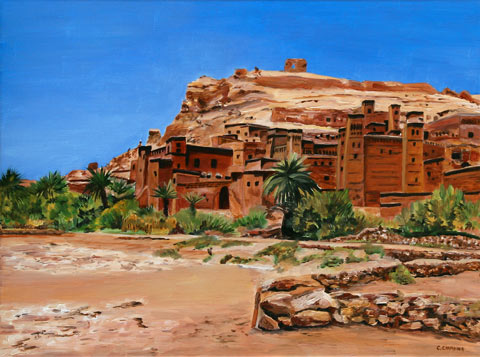 Tamdaght Casbah I - Oil - 12 P (61 x 46)