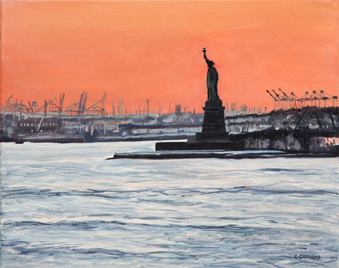 SOLD OUT   |   The Liberty at Sunset - Oil - 6 F (33 x 41)