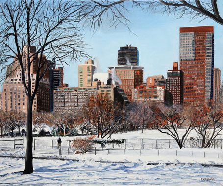 SOLD OUT   |   View from Central Park - Oil - 10 F (46 x 55)