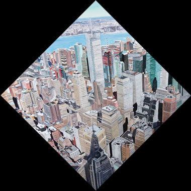 View from Empire State Building - Oil - 80 x 80 cm