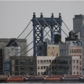View of the roofs and Manhattan Bridge