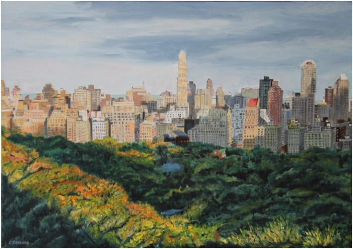 View on Central Park - Oil - 15M (65X46)