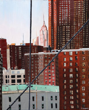 SOLD OUT   |   Vue from Brooklyn Bridge - Oil - 8 F (38 x 46)